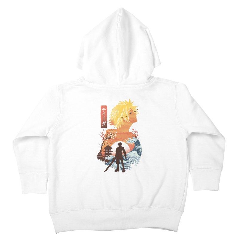 Ukiyo e Tidus Kids Toddler Zip-Up Hoody by dandingeroz's Artist Shop