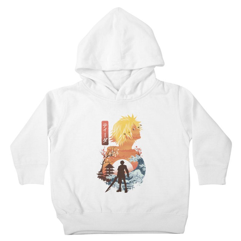 Ukiyo e Tidus Kids Toddler Pullover Hoody by dandingeroz's Artist Shop