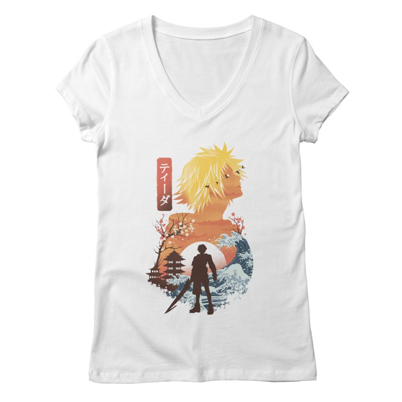 Ukiyo e Tidus Women's Regular V-Neck by dandingeroz's Artist Shop