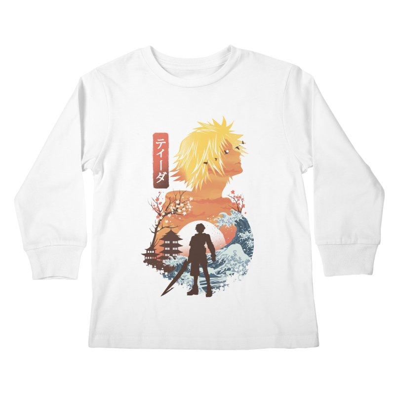 Ukiyo e Tidus Kids Longsleeve T-Shirt by dandingeroz's Artist Shop