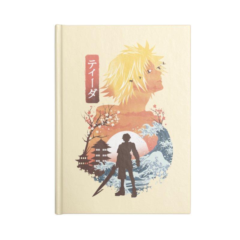 Ukiyo e Tidus Accessories Lined Journal Notebook by dandingeroz's Artist Shop