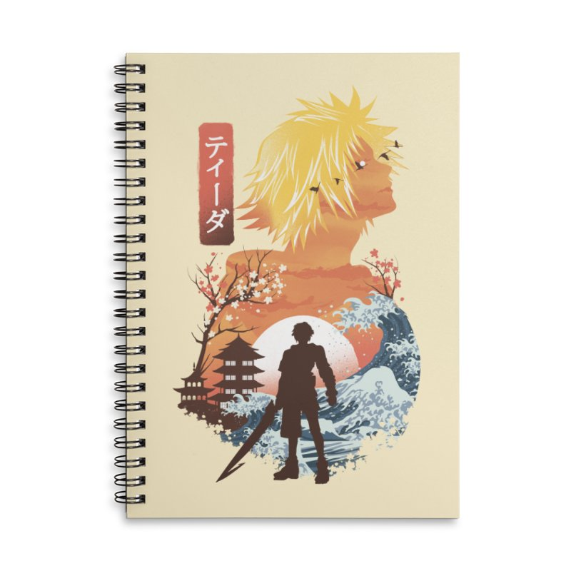 Ukiyo e Tidus Accessories Lined Spiral Notebook by dandingeroz's Artist Shop