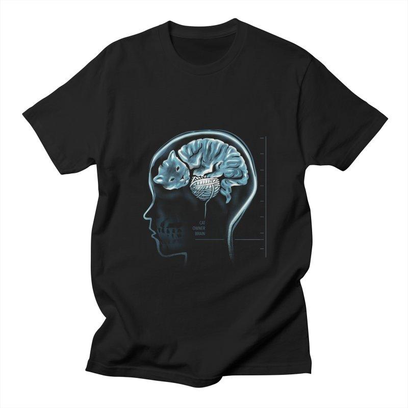 Cat Owner Brain Men's Regular T-Shirt by dandingeroz's Artist Shop