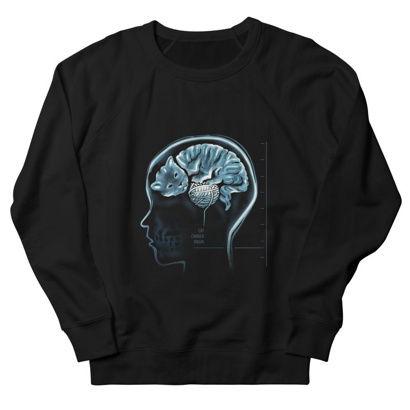 Cat Owner Brain Women's French Terry Sweatshirt by dandingeroz's Artist Shop