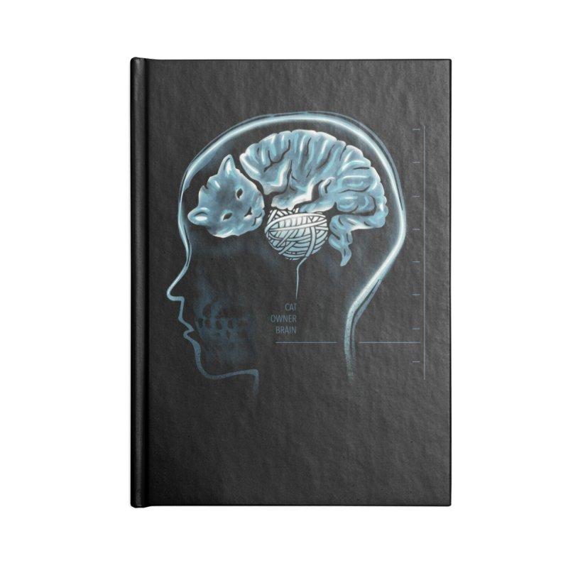 Cat Owner Brain Accessories Lined Journal Notebook by dandingeroz's Artist Shop