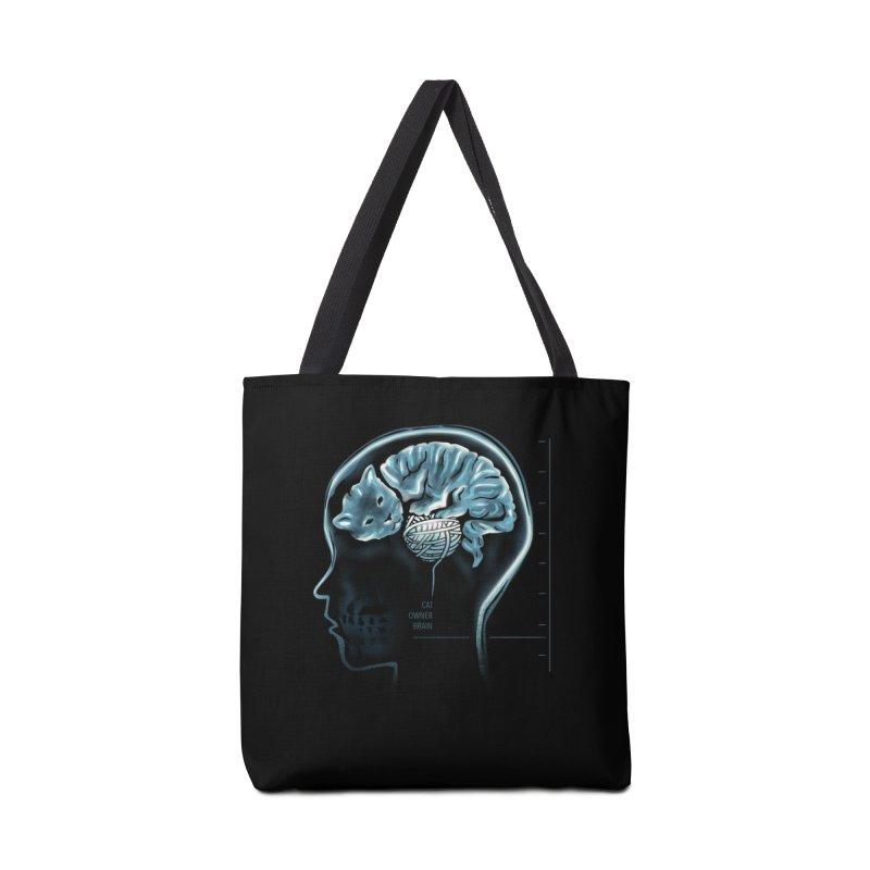 Cat Owner Brain Accessories Tote Bag Bag by dandingeroz's Artist Shop