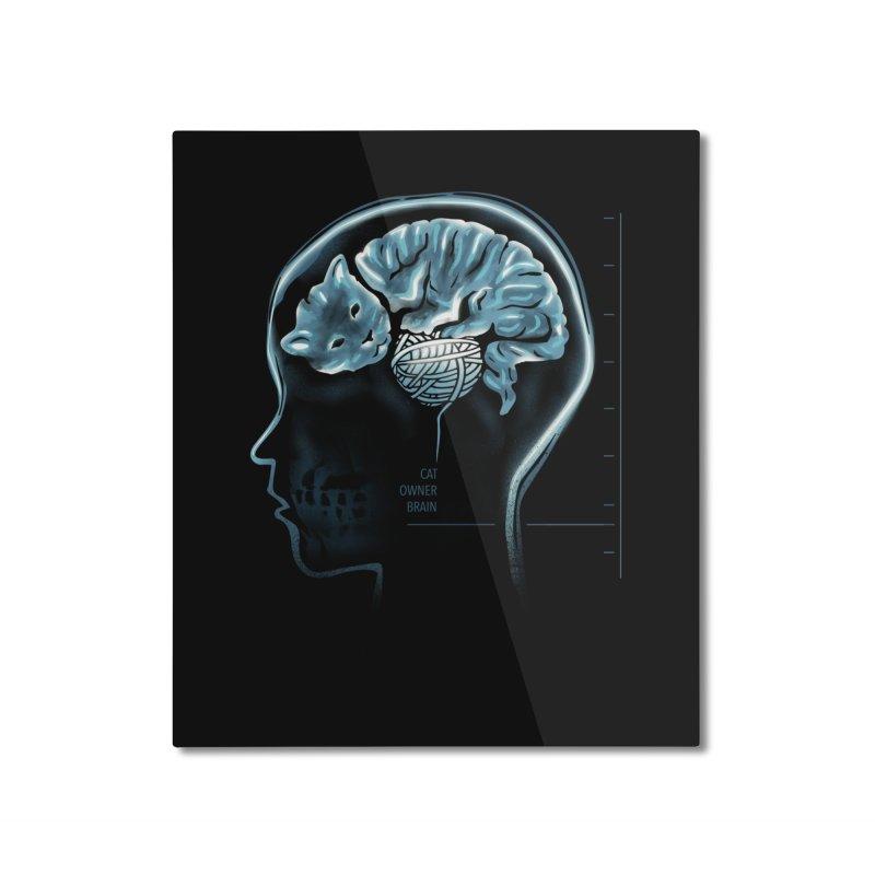 Cat Owner Brain Home Mounted Aluminum Print by dandingeroz's Artist Shop