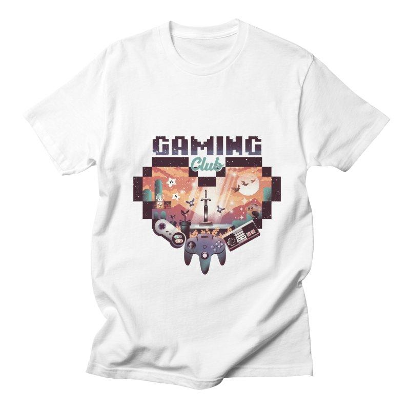 Retro Gaming Club Men's Regular T-Shirt by dandingeroz's Artist Shop