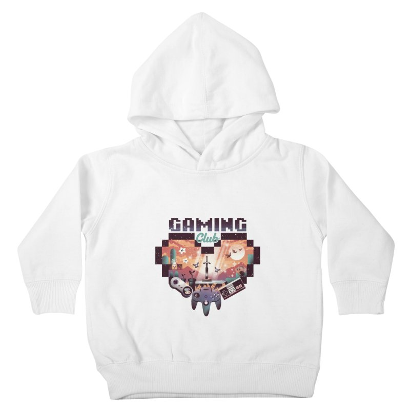 Retro Gaming Club Kids Toddler Pullover Hoody by dandingeroz's Artist Shop
