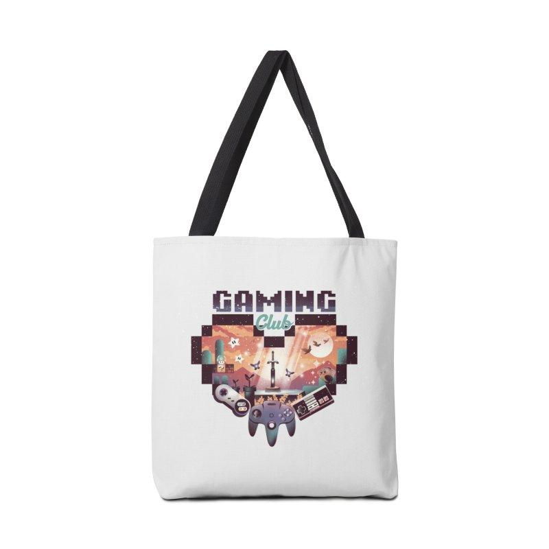 Retro Gaming Club Accessories Tote Bag Bag by dandingeroz's Artist Shop