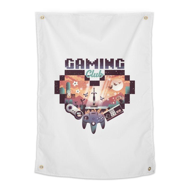 Retro Gaming Club Home Tapestry by dandingeroz's Artist Shop