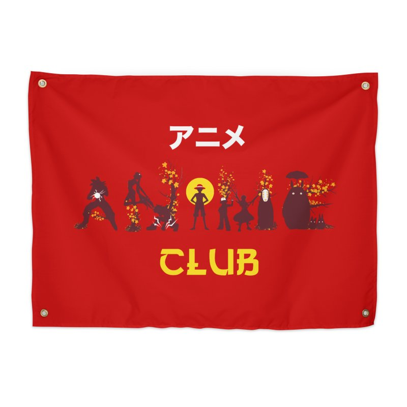 Anime Club Home Tapestry by dandingeroz's Artist Shop