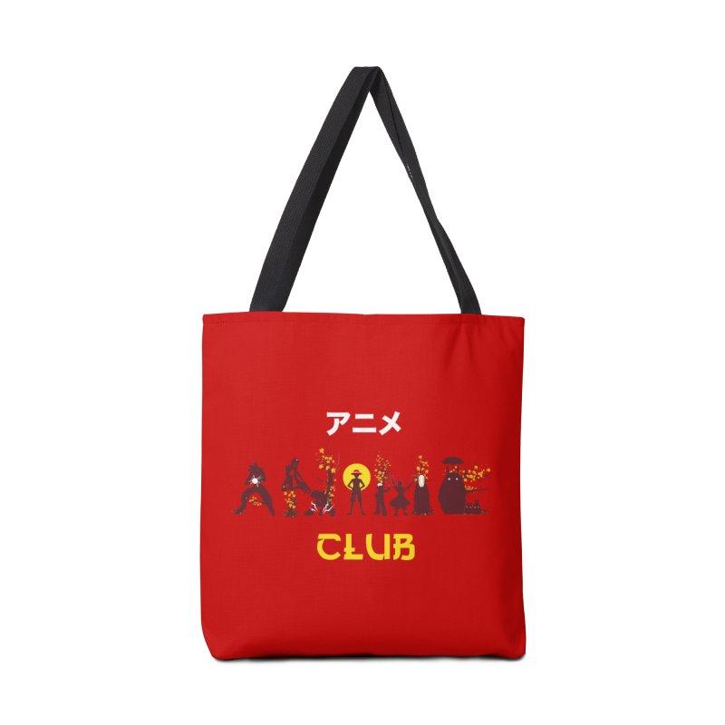 Anime Club Accessories Tote Bag Bag by dandingeroz's Artist Shop