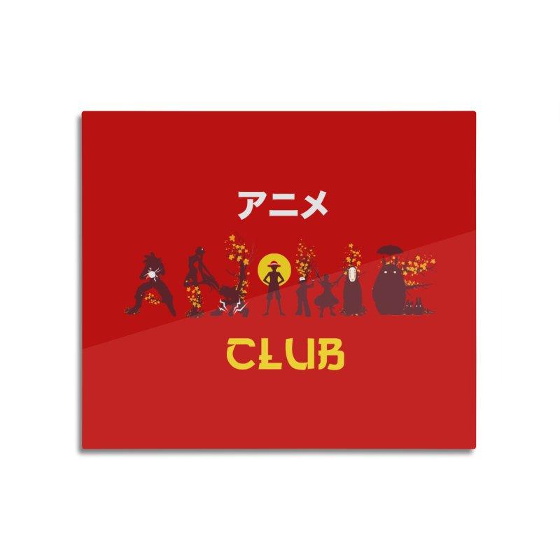Anime Club Home Mounted Aluminum Print by dandingeroz's Artist Shop