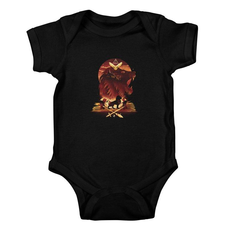 Book of Gryffindor Kids Baby Bodysuit by dandingeroz's Artist Shop