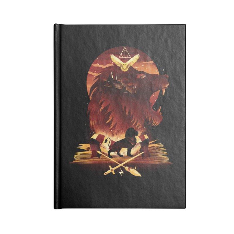 Book of Gryffindor Accessories Lined Journal Notebook by dandingeroz's Artist Shop