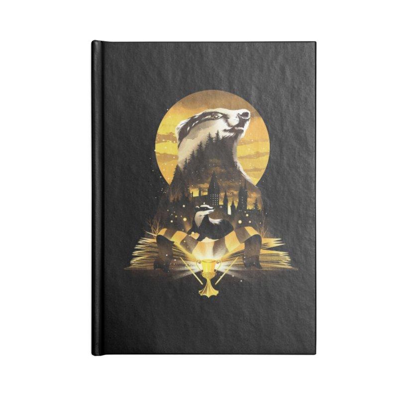 Book of Hufflepuff Accessories Lined Journal Notebook by dandingeroz's Artist Shop