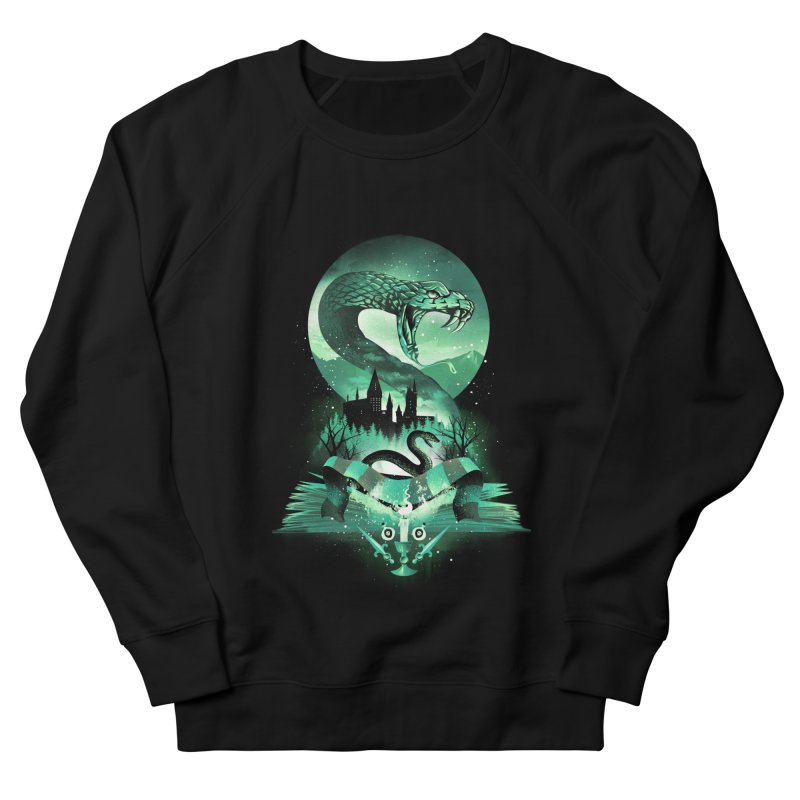 Book of Slytherin Men's French Terry Sweatshirt by dandingeroz's Artist Shop