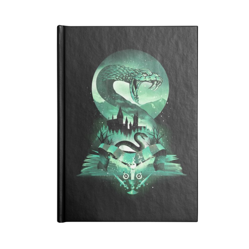 Book of Slytherin Accessories Lined Journal Notebook by dandingeroz's Artist Shop