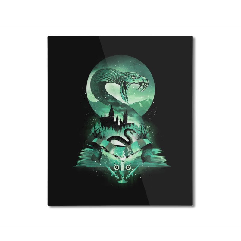Book of Slytherin Home Mounted Aluminum Print by dandingeroz's Artist Shop