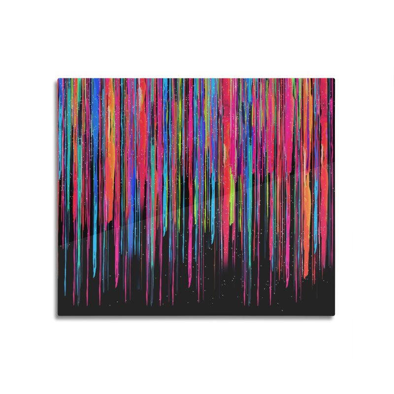 Color Drips Home Mounted Aluminum Print by dandingeroz's Artist Shop