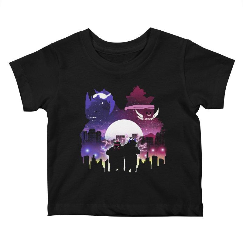The Foot Clan Night Kids Baby T-Shirt by dandingeroz's Artist Shop