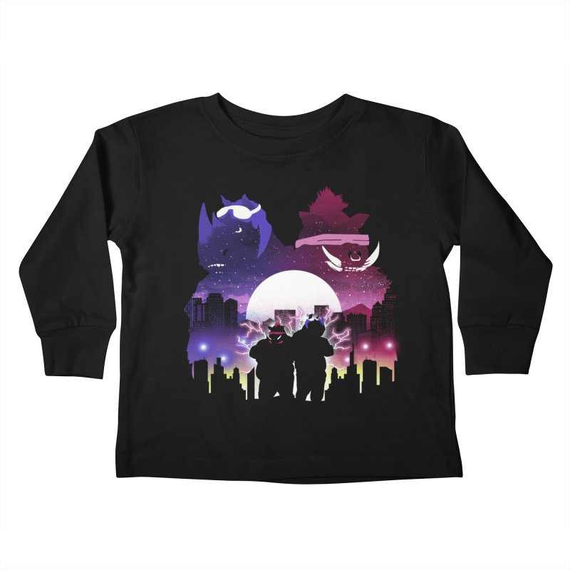 The Foot Clan Night Kids Toddler Longsleeve T-Shirt by dandingeroz's Artist Shop