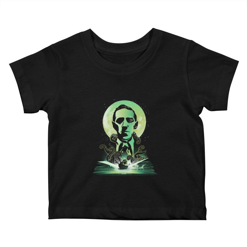 Book of Lovecraft Kids Baby T-Shirt by dandingeroz's Artist Shop