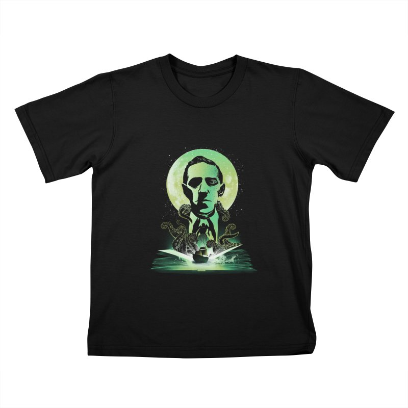 Book of Lovecraft Kids T-Shirt by dandingeroz's Artist Shop