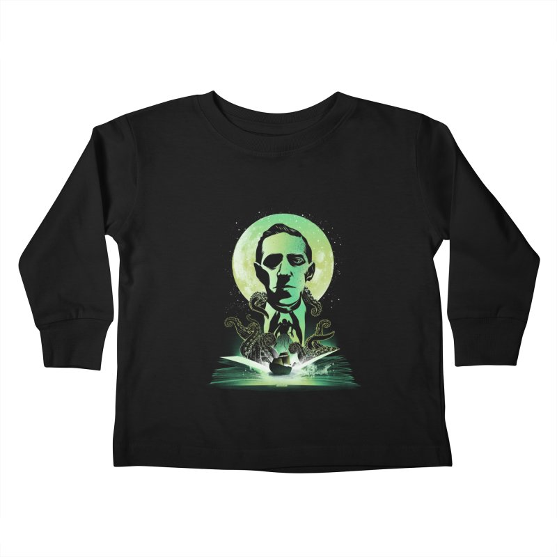 Book of Lovecraft Kids Toddler Longsleeve T-Shirt by dandingeroz's Artist Shop