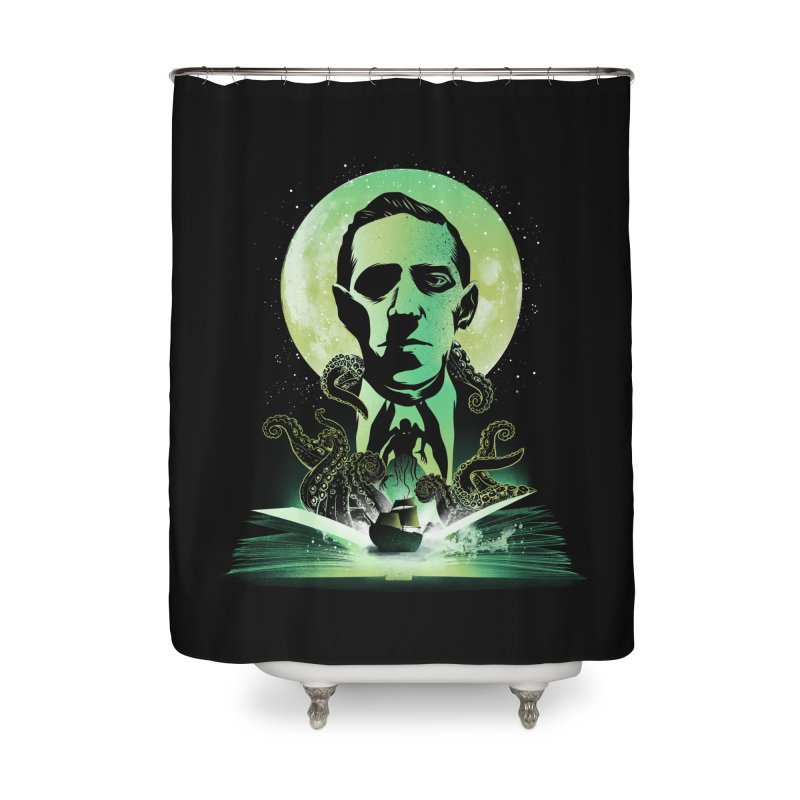Book of Lovecraft Home Shower Curtain by dandingeroz's Artist Shop