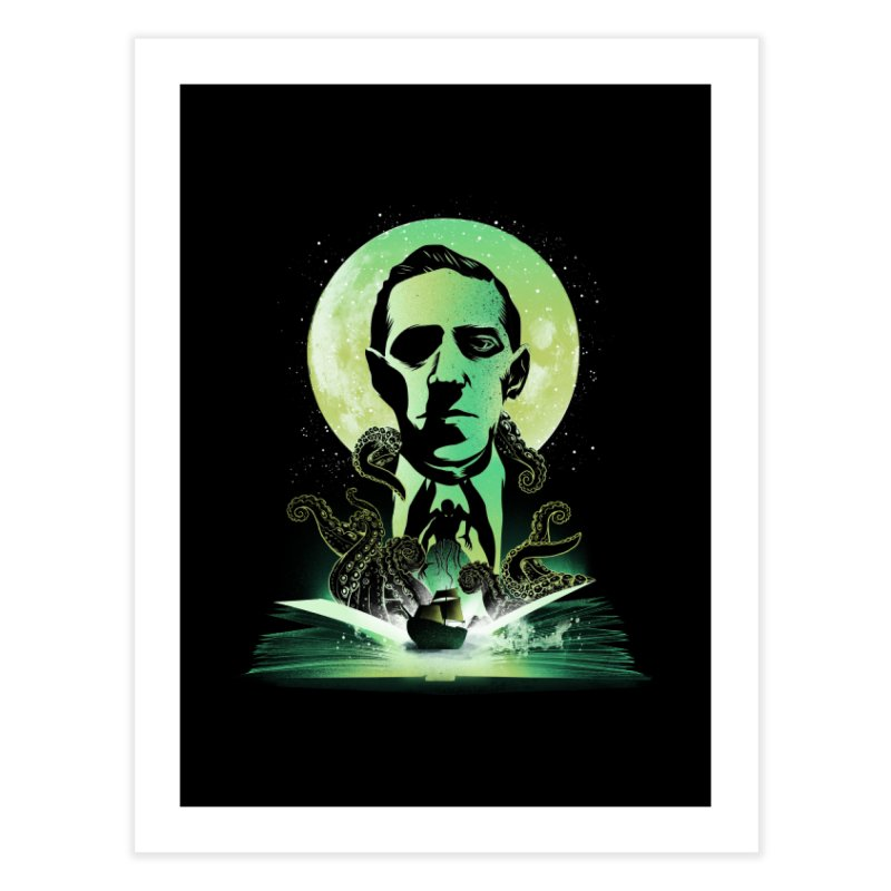 Book of Lovecraft Home Fine Art Print by dandingeroz's Artist Shop