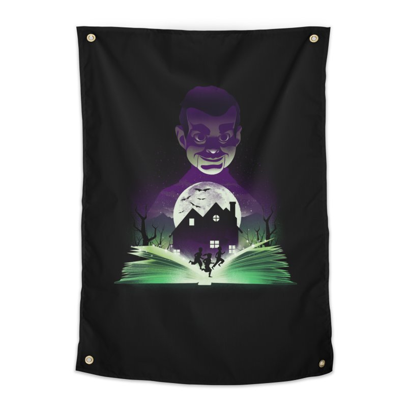 Book of Night Terror Home Tapestry by dandingeroz's Artist Shop