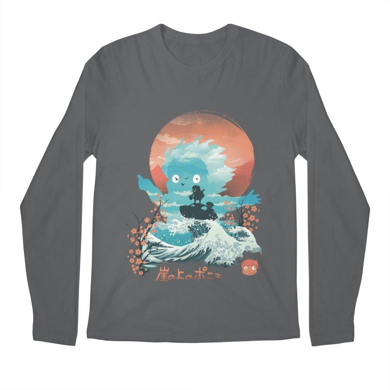 Ukiyo e Ponyo Men's Longsleeve T-Shirt by dandingeroz's Artist Shop
