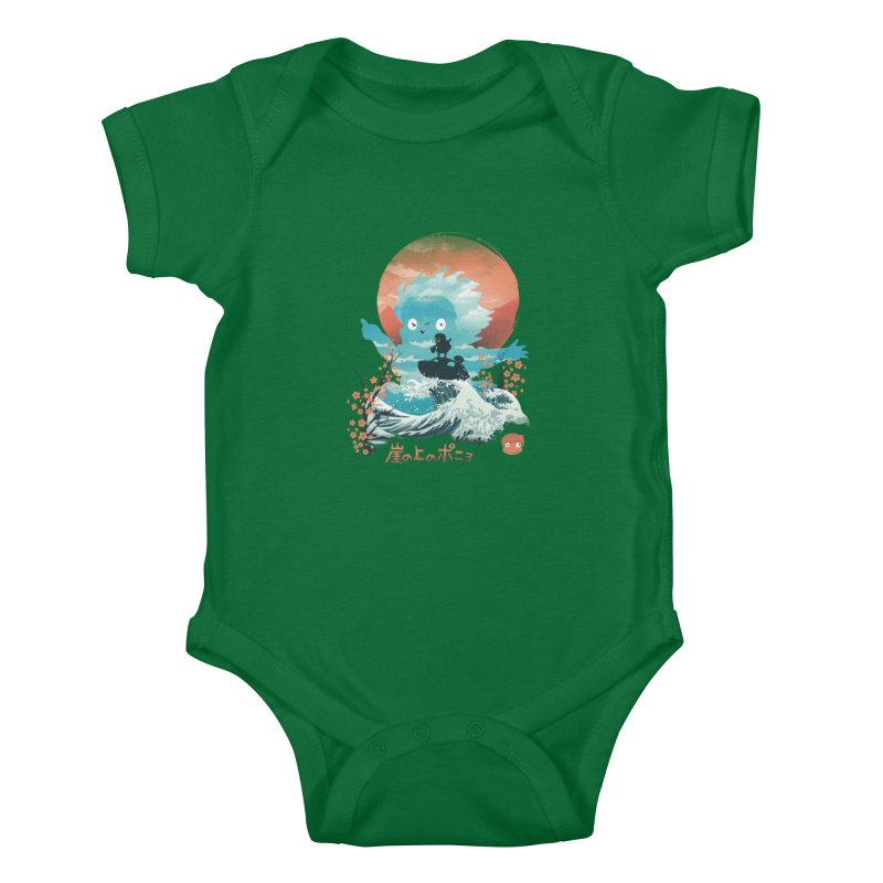 Ukiyo e Ponyo Kids Baby Bodysuit by dandingeroz's Artist Shop