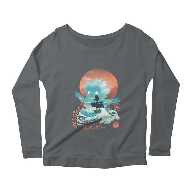Ukiyo e Ponyo Women's Longsleeve T-Shirt by dandingeroz's Artist Shop