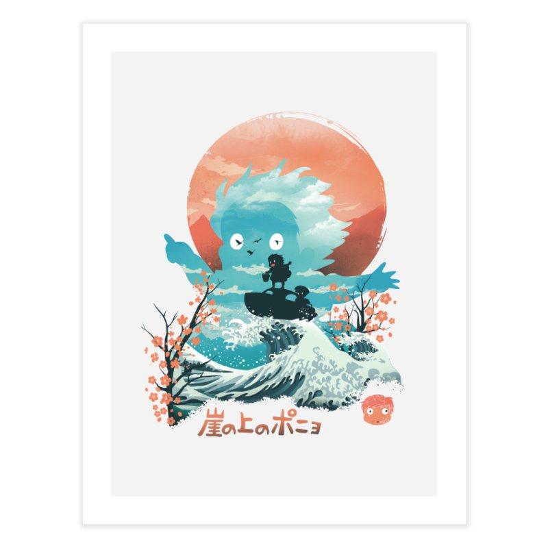 Ukiyo e Ponyo Home Fine Art Print by dandingeroz's Artist Shop