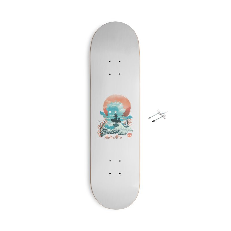 Ukiyo e Ponyo Accessories Skateboard by dandingeroz's Artist Shop