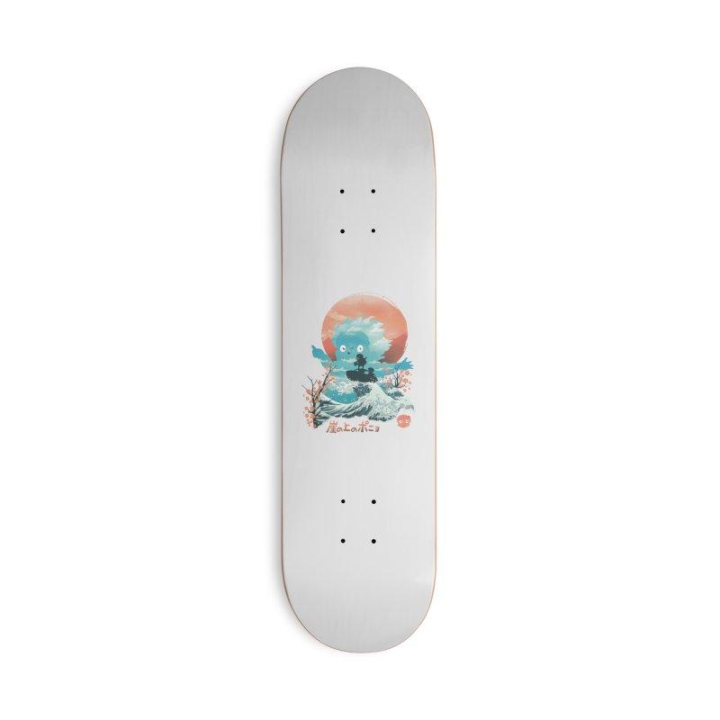 Ukiyo e Ponyo Accessories Skateboard by dandingeroz's Artist Shop