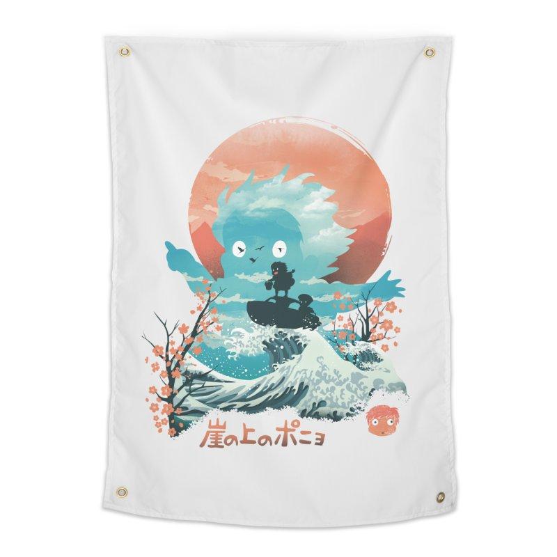 Ukiyo e Ponyo Home Tapestry by dandingeroz's Artist Shop