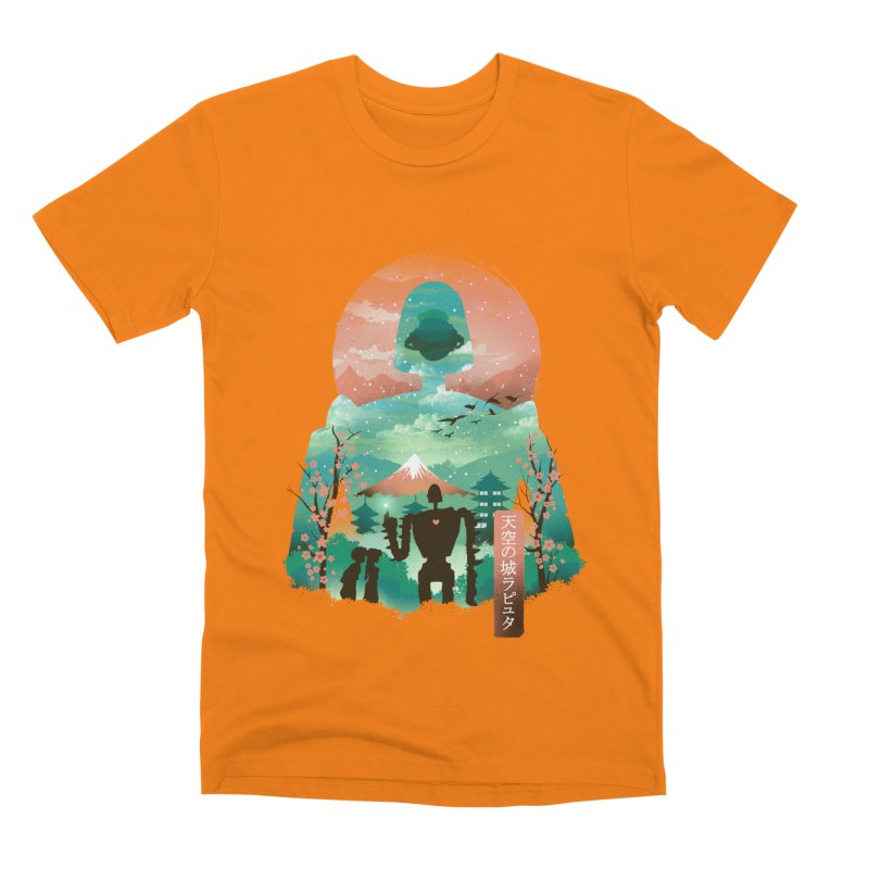 Ukiyo E Sky Castle Men's T-Shirt by dandingeroz's Artist Shop