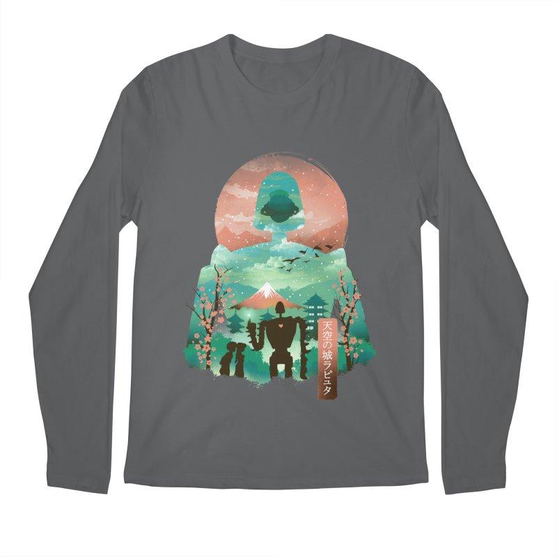 Ukiyo E Sky Castle Men's Longsleeve T-Shirt by dandingeroz's Artist Shop