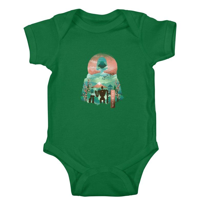 Ukiyo E Sky Castle Kids Baby Bodysuit by dandingeroz's Artist Shop