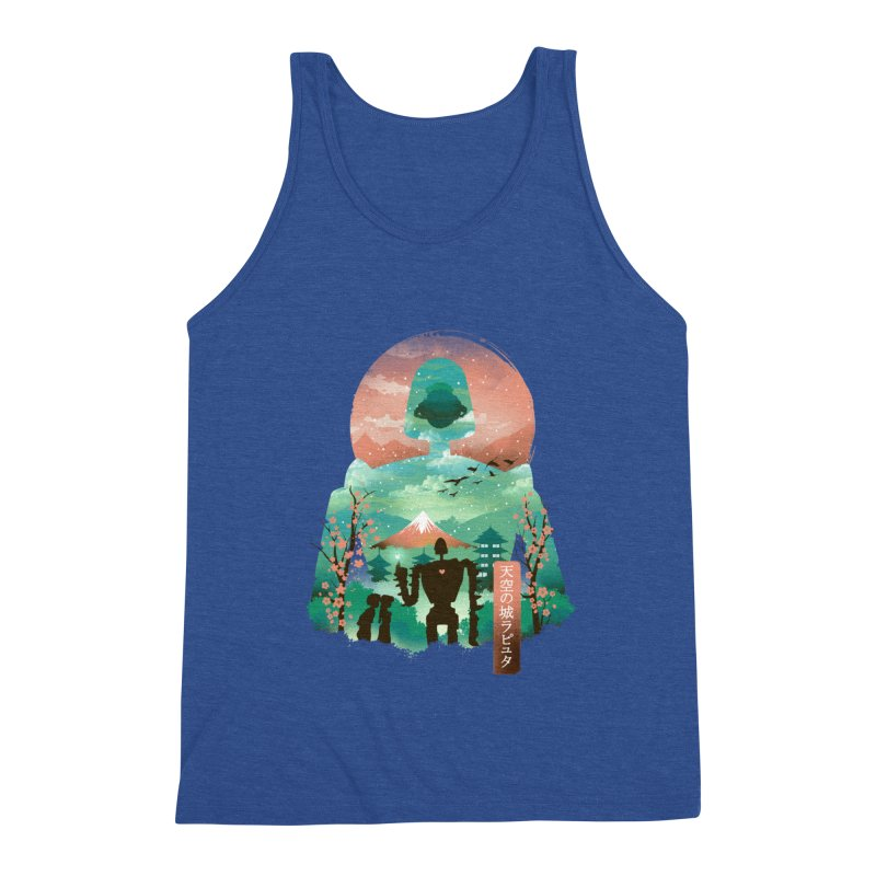 Ukiyo E Sky Castle Men's Tank by dandingeroz's Artist Shop