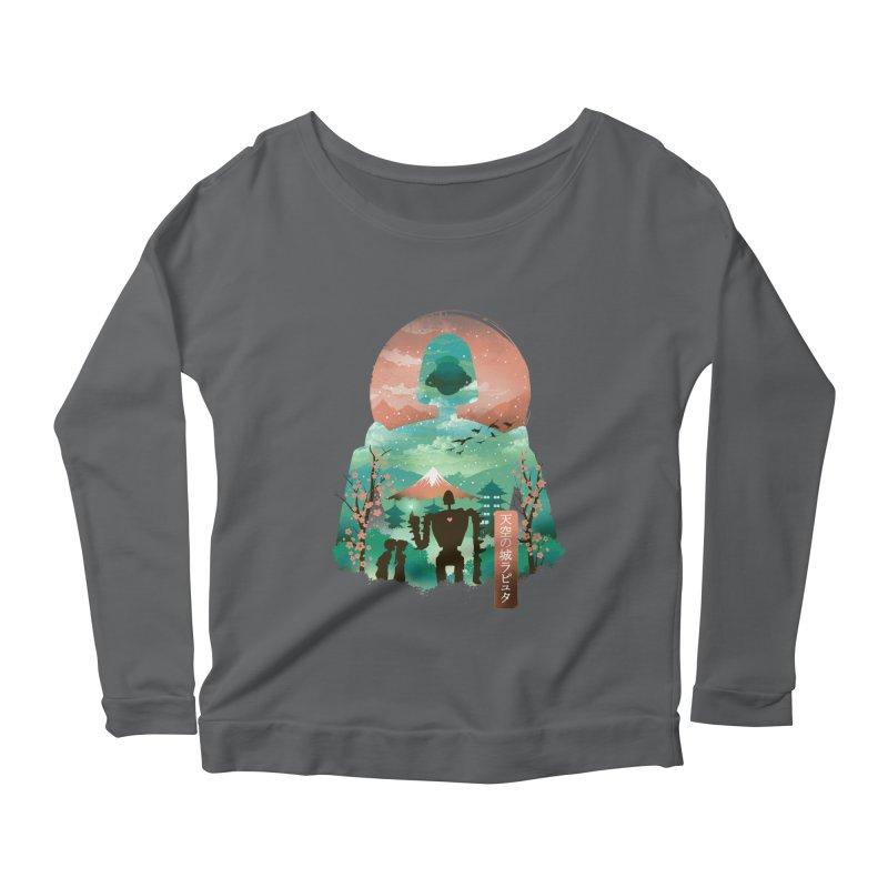 Ukiyo E Sky Castle Women's Longsleeve T-Shirt by dandingeroz's Artist Shop