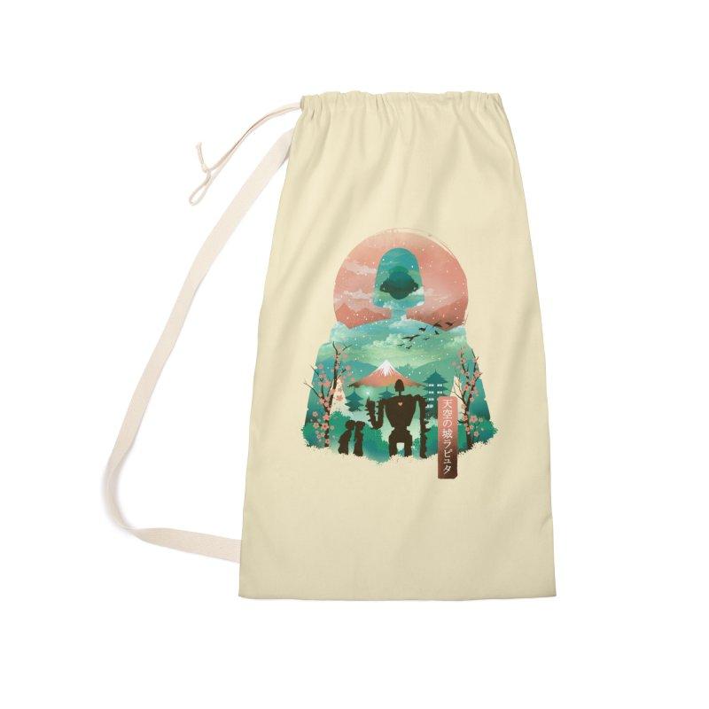 Ukiyo E Sky Castle Accessories Bag by dandingeroz's Artist Shop