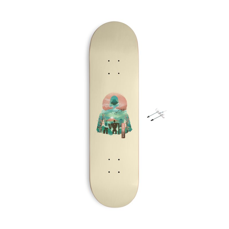 Ukiyo E Sky Castle Accessories Skateboard by dandingeroz's Artist Shop