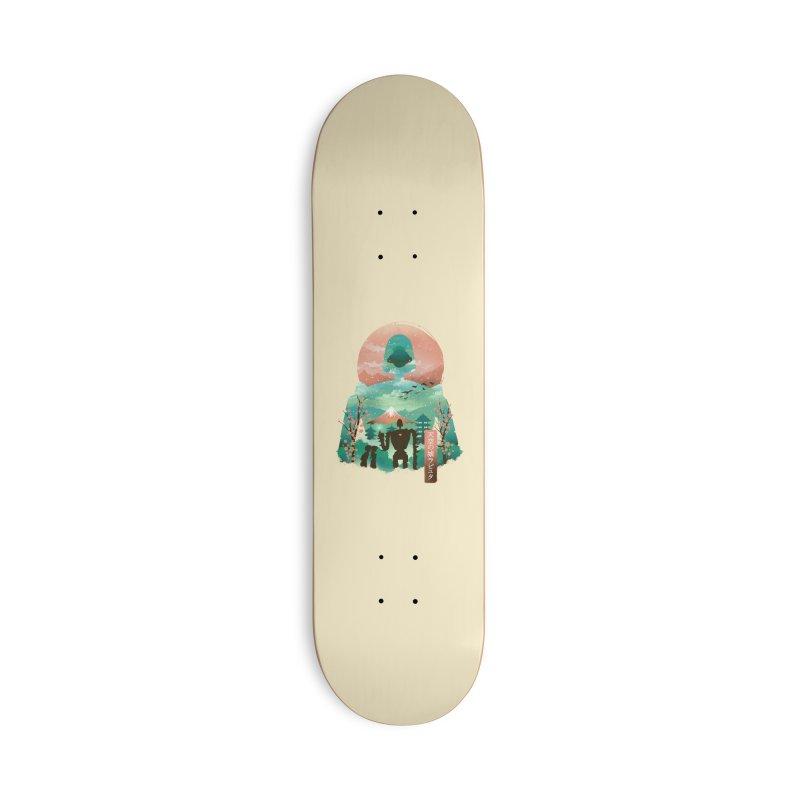 Ukiyo E Sky Castle Accessories Skateboard by dandingeroz's Artist Shop