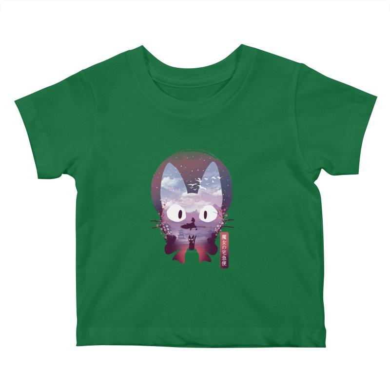 Ukiyo E Midnight Delivery Kids Baby T-Shirt by dandingeroz's Artist Shop