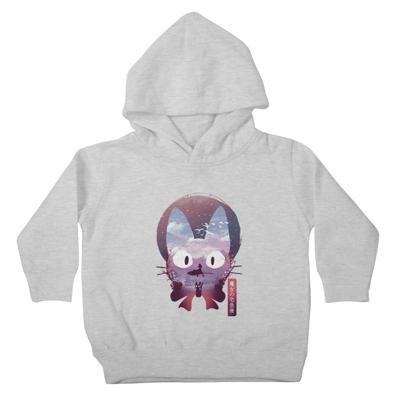 Ukiyo E Midnight Delivery Kids Toddler Pullover Hoody by dandingeroz's Artist Shop